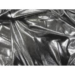 METALLIC DOT LYCRA silver on black