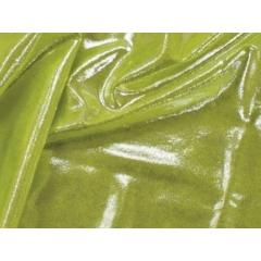 METALLIC DOT LYCRA silver on tropic lime