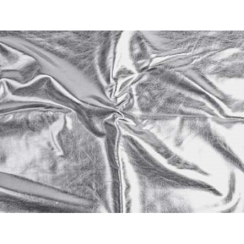 METALLIC FOILED LYCRA silver