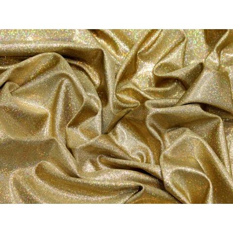 LYCRA HOLOGRAM gold on gold