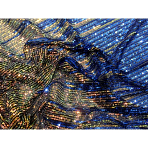 OMBRE SEQUIN JERSEY multi to blue
