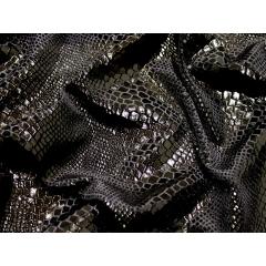 PYTHON FOIL VELVET black on black