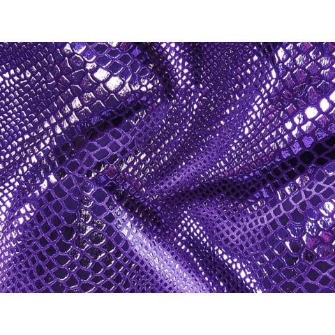 PYTHON FOIL VELVET dark purple rain