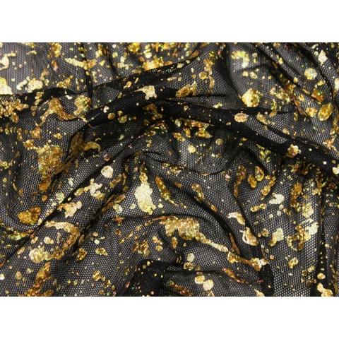 CHROMA METALLIC MESH gold on black