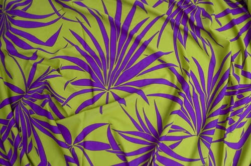 Tropical Lycra - olive-purple