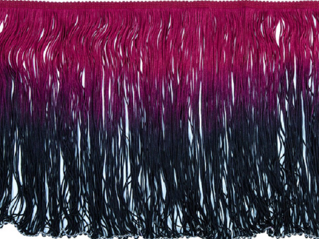 Frędzle cieniowane elastyczne 30cm DSI - burgundy-black