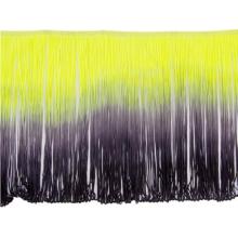 Frędzle cieniowane elastyczne 30cm DSI - lime-black
