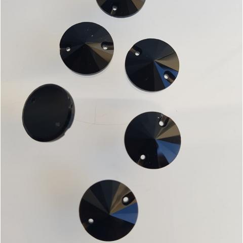 Okrągłe jet black 14mm