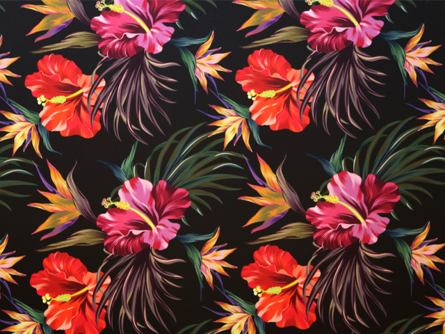 Hibiscus floral print on lycra