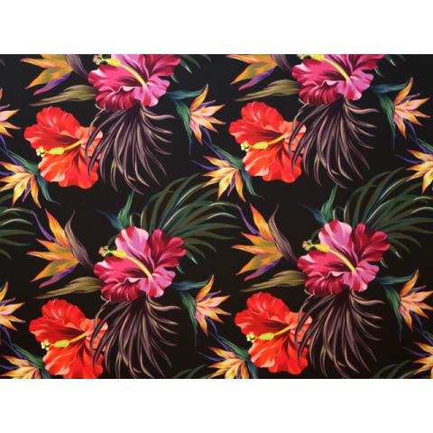 Hibiscus floral print on lycra