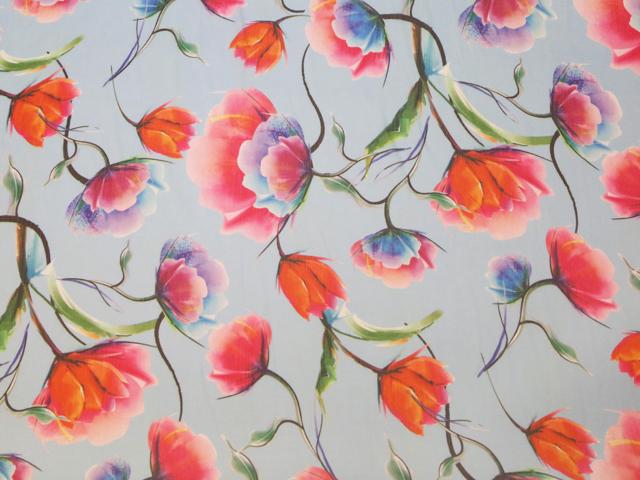 Tulip print on georgette