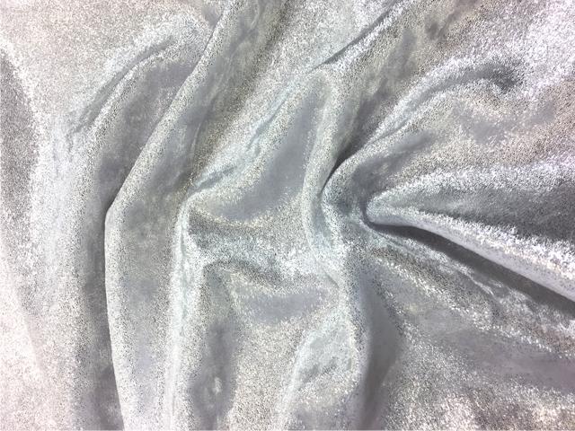 Velvet shimmer CHR-C  - silver on white