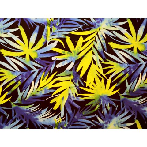 Palm Leaves Printed Lycra